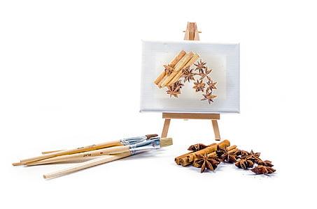 lukisan, sikat, hal-hal, warna, warna, kanvas, bintang adas manis