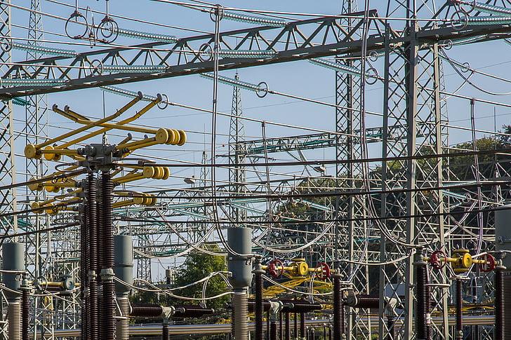 alajaama, elektrienergia, praeguse, kõrgepinge, trafo, elektrienergia tootmine, strommast