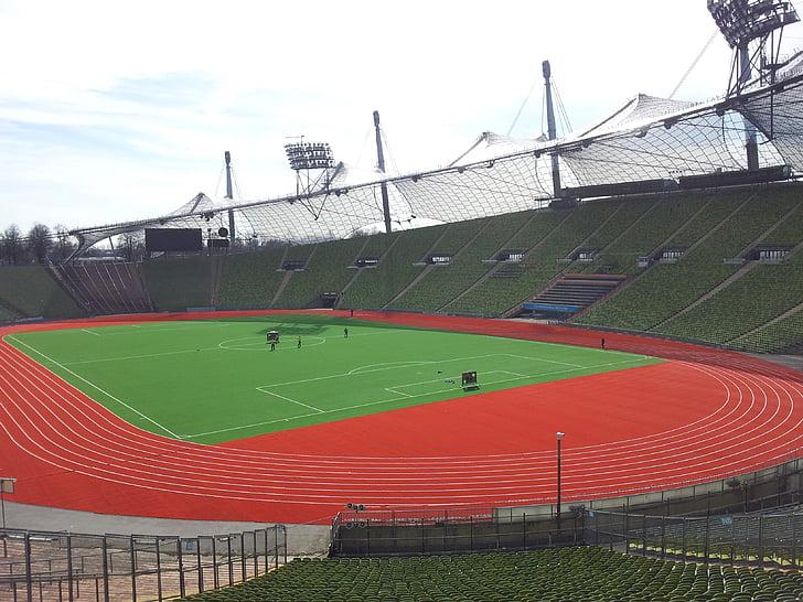 Munic, Estadi Olímpic, Estadi, arquitectura, tribuna, Estadi de futbol, Olympia
