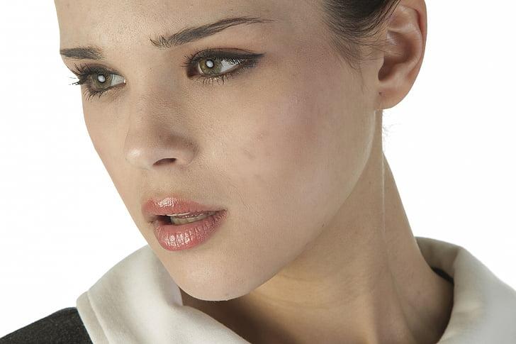 modelis, skaists, ekspozīcijas, modes atvašu, portrets, cilvēku, modes