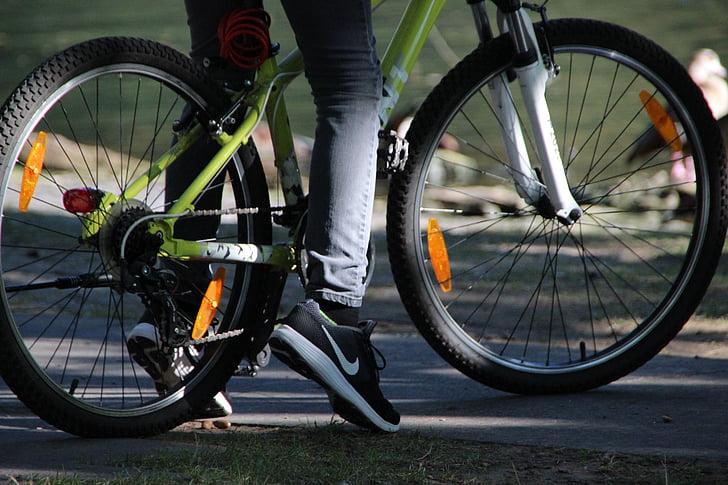 Cyklisti, staršie, lúče, Horský bicykel, športový, Vonkajší, športové vybavenie