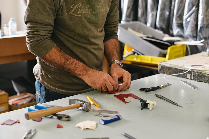 office worker, garage, worker, work, man, repair, workshop