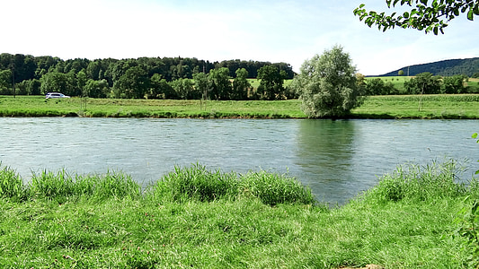 river, landscape, water, nature, landscape water, atmospheric