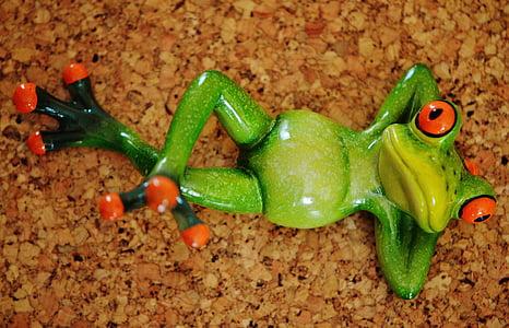 жаба, Смешно, фигура, Сладък, керамични, забавно, жаби