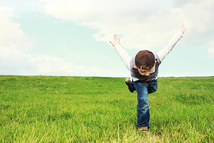 childhood, child, flight, luck, flyer, children, play