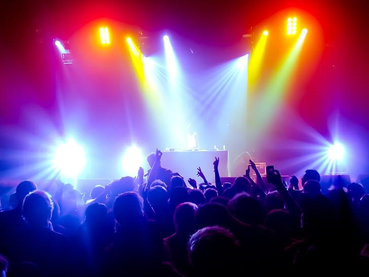 konsert, lyd, lys, offentlige, partiet, trinn - sted, musikk