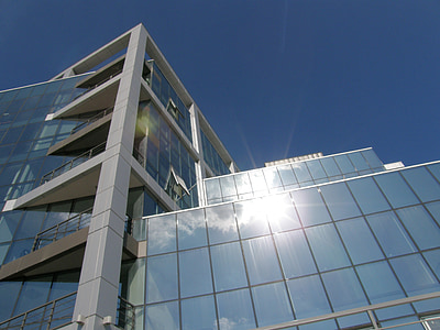 building, window, reflection, architecture, modern building, windows, office