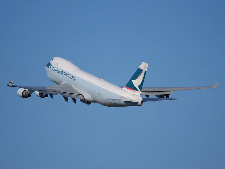 Boeing 747, Cathay pacific, jumbo jet, décoller, avion, avion, aéroport le plus pratique