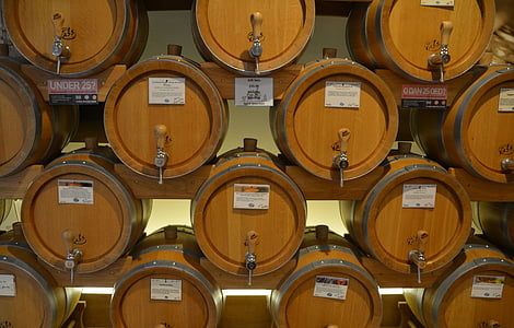 barriques, whisky, vin, bois, en bois, boisson, vieux