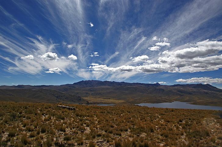 Pérou, Andes, nuages, plateau