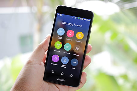 androide, Telèfon d'Android, entelar, negoci, telèfon mòbil, telèfon cel lular, close-up
