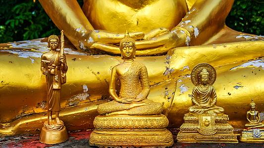 Buddha, Buddhismus, meditace, zlato, Zlatý buddha, transcendence, Zen