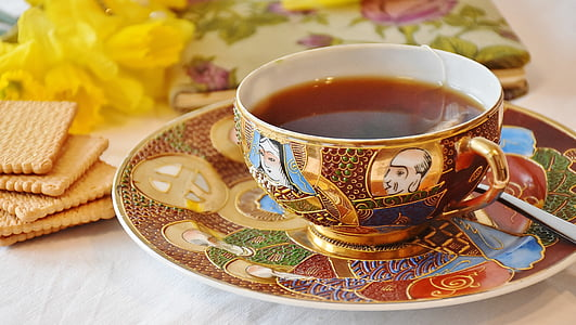 t, xícara de chá, utensílios de mesa, compilações de, antiguidade, relíquia de família, porcelana