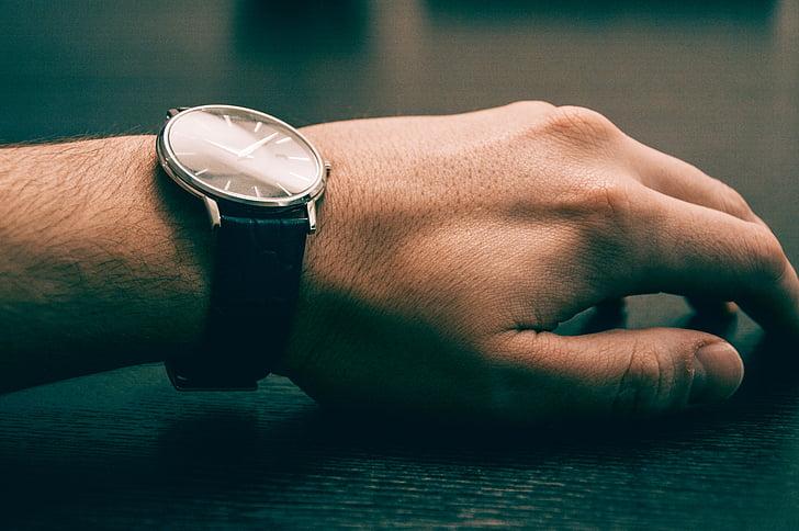 moda, mano, tiempo, reloj, reloj de pulsera