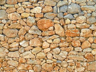 背景, 石材背景, 石头, 墙上, 干石墙, 纹理, 模式