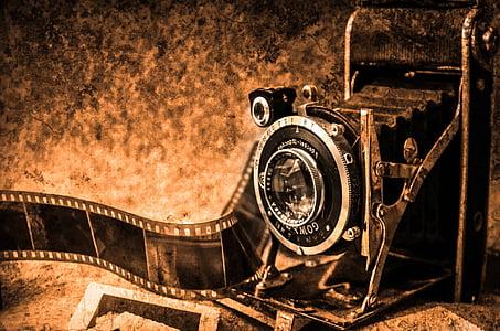 càmera de fotos, fotografia, vell, retro, cinema, fotos, càmera
