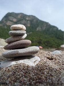 stenar, bergen, balans, Pyramid, stranden, Pebble, Zen-liknande