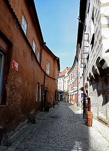 Street, arkitektur, hus, bane, tsjekkisk budejovice, hradební gaten, Alley