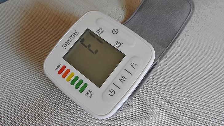 monitor tekanan darah, Diberkati, denyut jantung, tekanan darah