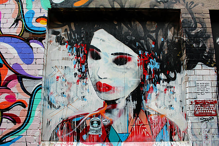 grafiti, lukisan, dinding, Street, perkotaan, karya seni, grafiti