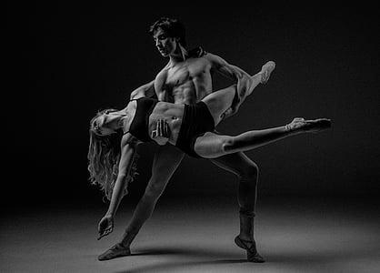adult, ballerinas, ballet, ballet dancers, black and white, dancers, dancing