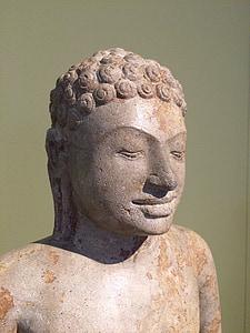 Buddha, konst, skulptur, museet