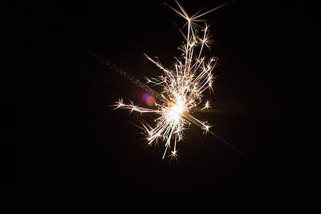 macro, photography, fire, crackers, sparkle, firework, sparkler