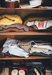 cabinet, clothes, garments, shelves, wardrobe, clothing, store