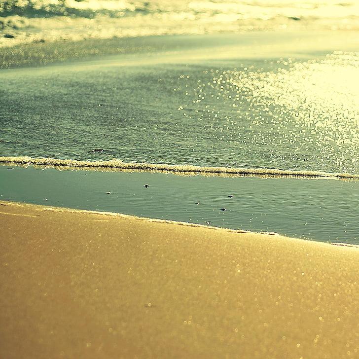 pludmale, jūra, ūdens, Spānija, jūras krasta, viļņi, Andalūzija