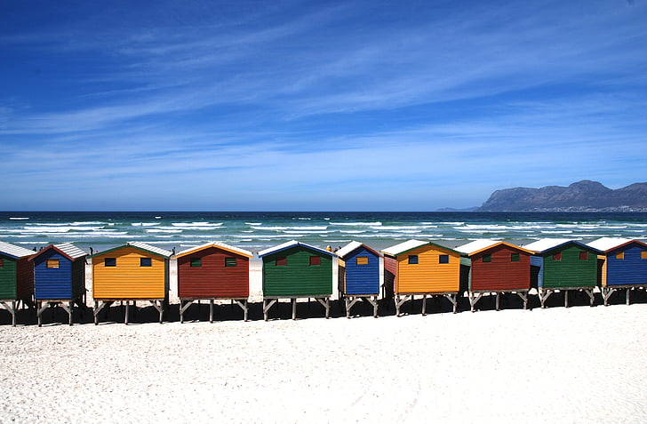beach, cottage, cottages, beach huts, sea, holidays, the coast