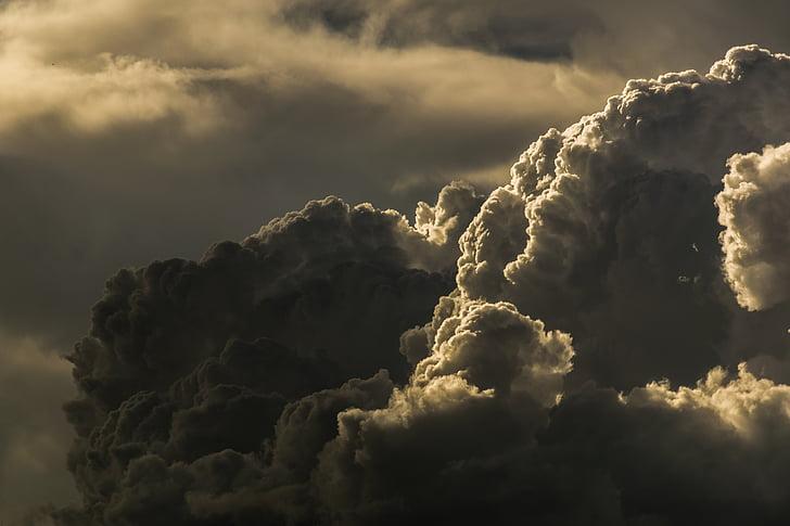 clouds, cloudy, dark clouds, dramatic, gloomy, sky