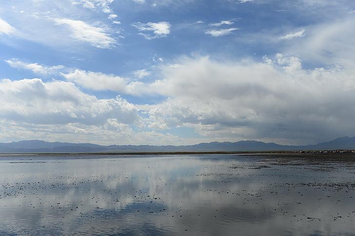 salt lake, lake, the scenery