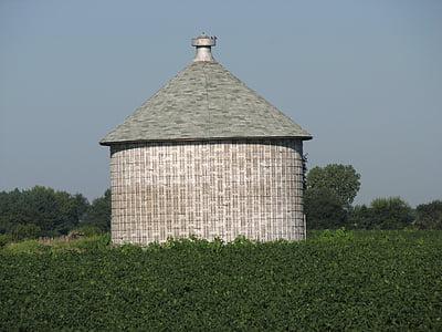 silo, field, farming, agriculture, rural, farm, agricultural