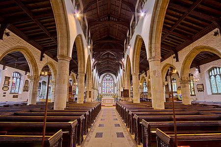 Catedral, veure, religió, l'església, arc, arquitectura, l'interior