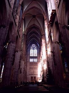 Nhà thờ Cologne cathedral, kiến trúc Gothic, Cologne trên sông rhine, kiến trúc, ca đoàn, Nhà thờ, kính màu