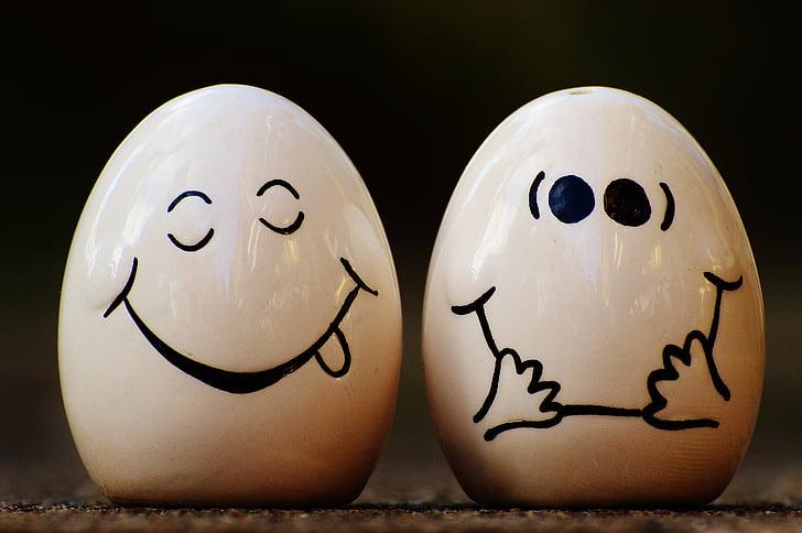 сіль шейкер, перець, яйце, смайлик, Смішний, сміятися, Симпатичний