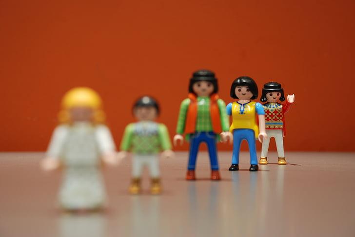 playmobil, boy, waving, child, boys, people, small
