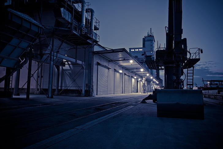 port, gloomy, leave, industry, at night, crime scene, crime