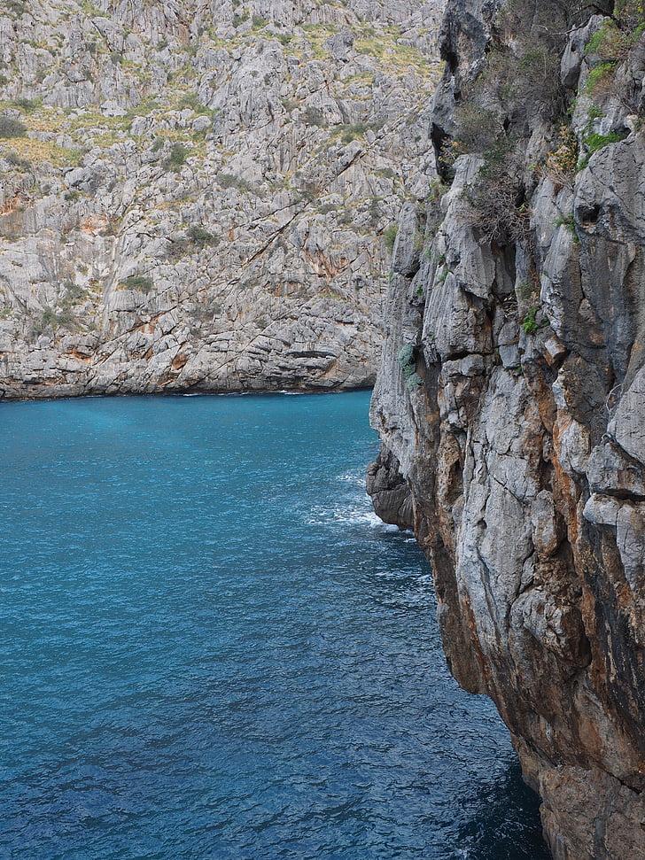 rezervace, SA calobra, zátoce sa calobra, Serra de tramuntana, zátoku moře, Mallorca, zajímavá místa
