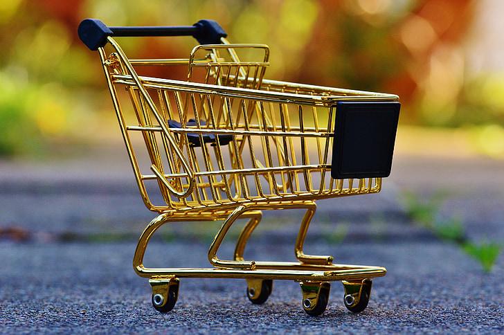 carrello della spesa, lo shopping, l'acquisto di, caramella, carrello, lista della spesa, cibo