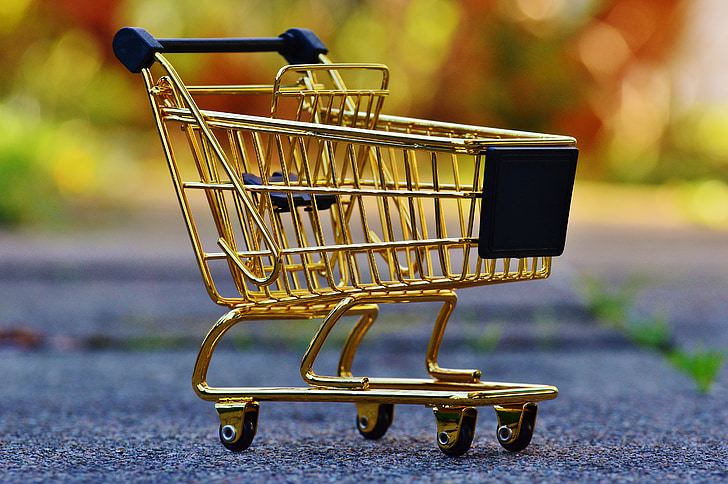 kundvagn, shopping, inköp, godis, vagn, inköpslista, mat