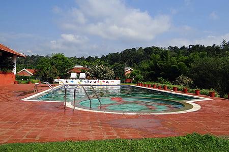 Yüzme Havuzu, Havuzu, ammathi, kodagu, Hindistan, tatil, otel Havuzu