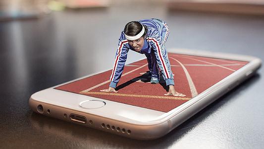 Marató, executar, esport, competència, acte esportiu, corrent d'esports, treure