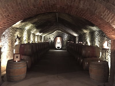 cave vin, vieille cave, Cave, Cave, Winery, baril, à l'intérieur