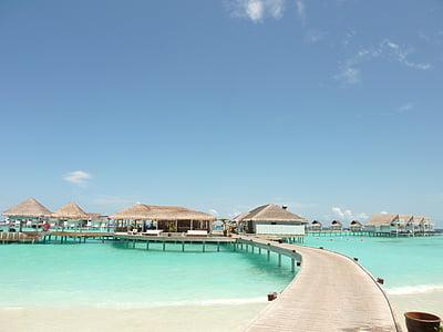 Maldivi, putovanja, naselje, Otok, Hotel na vodi, ruta, Gata