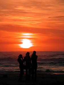 Zandvoort, Holandsko, Holandsko, Noord holland, pobrežie, jazero, západ slnka