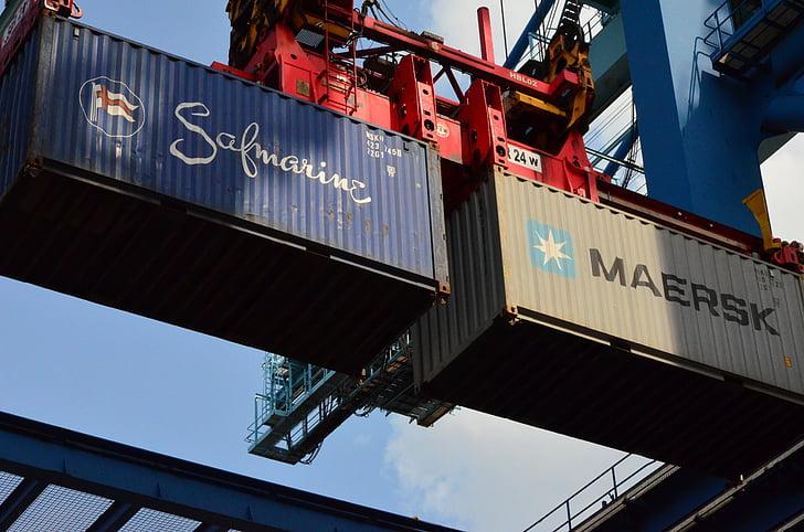 集装箱, 集装箱起重机, 端口, 器, twinlift, 集装箱码头, 集装箱装卸