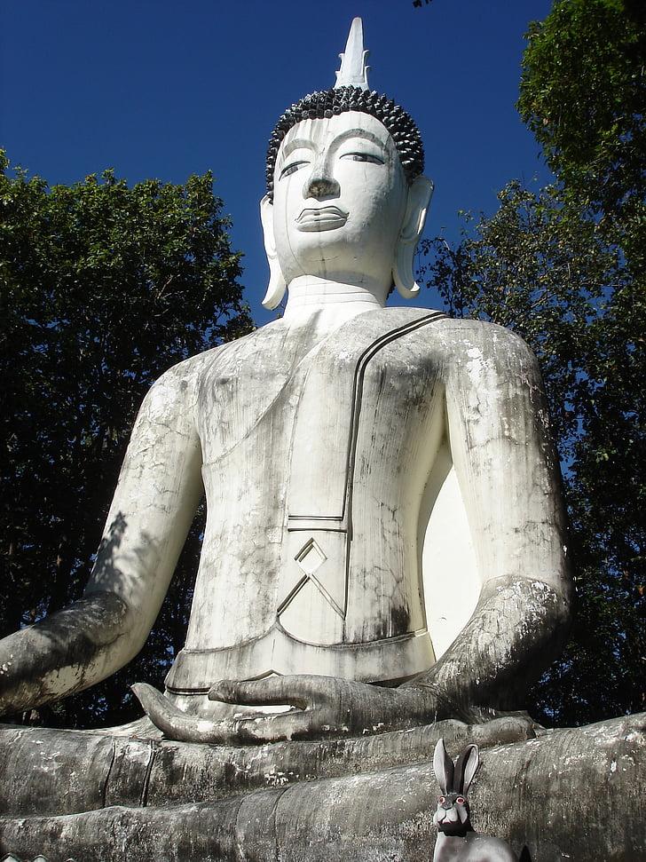 northern thailand, pa yao, seated buddha