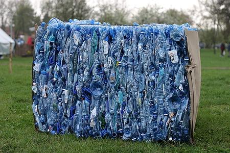 垃圾, 回收, 购物篮, 通过参与, 的纯度, 塑料, 处理