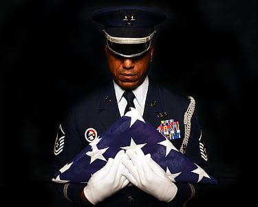 military, honor, guard, portrait, flag, american, usa